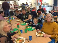 Primary 1s having Lunch with their Parents Mrs Maguire