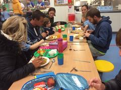 Primary 1s having Lunch with their Parents Mrs Harbinson