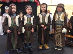 Photographs of Rehearsals for the Primary 1 - 3 Christmas Nativity