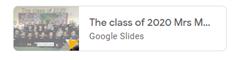 Class of 2020 slides