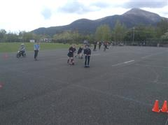 Photos of Our Class Cycling and Scooting in the Yard