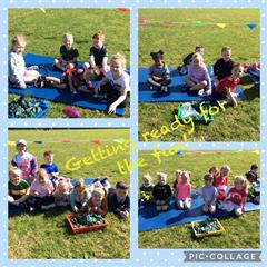 Sports Day in Primary One, Mrs Maguire's class