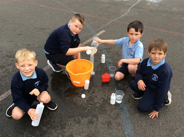 Primary 3 work with Water to learn more about Capacity