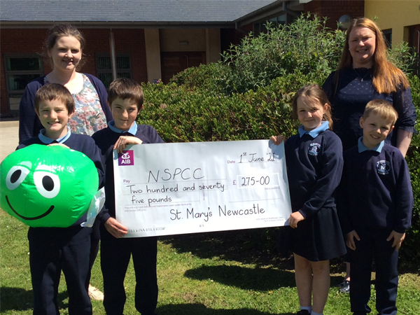 Number Day Cheque Presentation the NSPCC