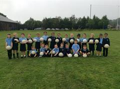 Gaelic Football during PE in P3kp