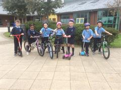 Cycling and Scooting in Primary 3kp