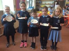 Eating the Potatoes Grown and Harvested by Primary 3